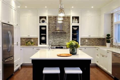 white kitchen cabinets with backsplash contemporary mosaic tiles contemporary kitchen