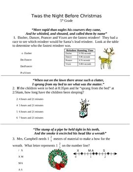 free christmas glyphs for fourth grade math worksheets 5th grade free worksheets library and print worksheets