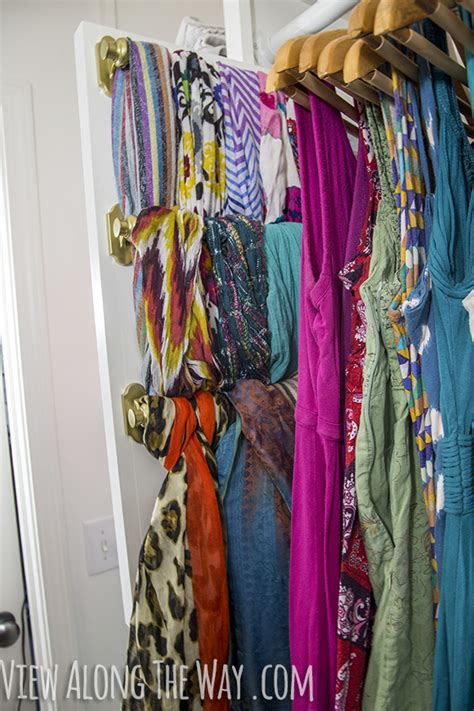 Scarf Drawer Organizer by Diy Slide Out Scarf And Belt Organizers View Along The