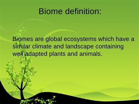 Landscape Characteristics Definition What Characteristics Do Different Biomes