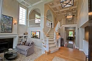 kaminskiy design home remodeling traditional staircase with box ceiling sunken living