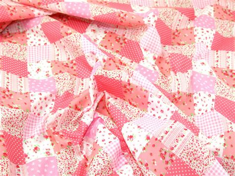 Patchwork Print Fabric - patchwork print polycotton dress fabric ep 216 m ebay