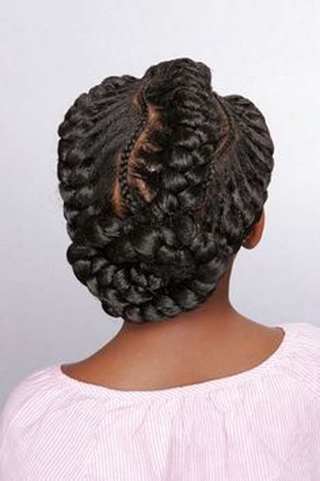 goddess braids picture gallery goddess braids pinwheel bun under braid hairstyles for