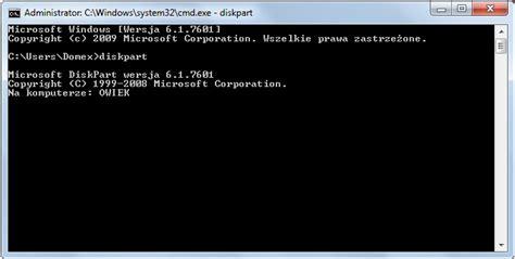diskpart komendy format jak usunąć blokadę dysk jest zabezpieczony przed zapisem faq
