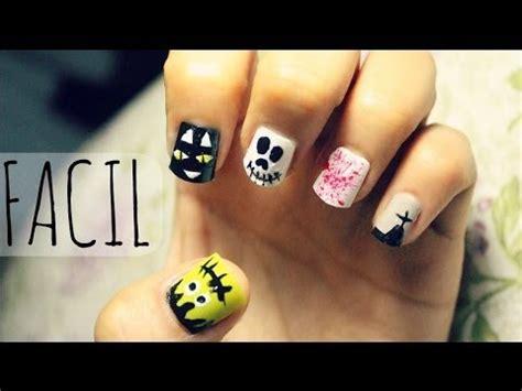 imagenes de uñas pintadas para halloween u 209 as para halloween faciles 5 dise 209 os youtube