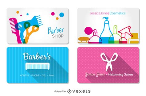hairdressing business cards templates hairdressing and barber shop business cards templates