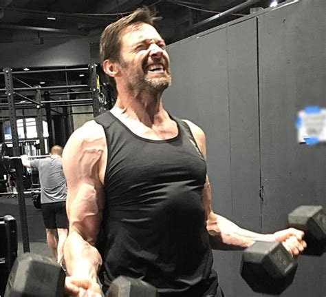 how much can hugh jackman bench hugh jackman looks mega jacked for wolverine sequel stack