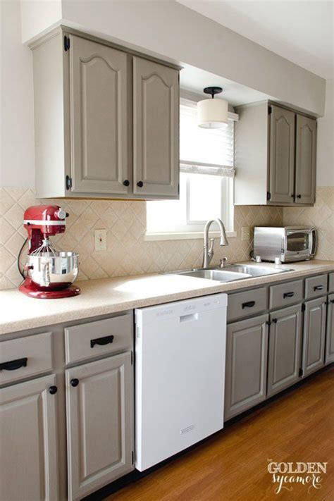 how to make kitchen cabinets look better ideas to decorate with white appliances and painted gray