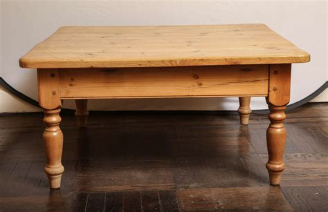 Coffee Table Turned Legs Low Pine Coffee Table With Turned Legs At 1stdibs