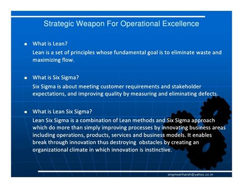 poised for excellence fundamental principles of effective leadership in the boardroom and beyond books operational excellence through lean six sigma