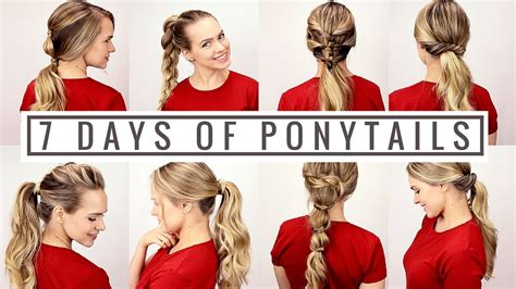 different days of week 7 days of ponytails