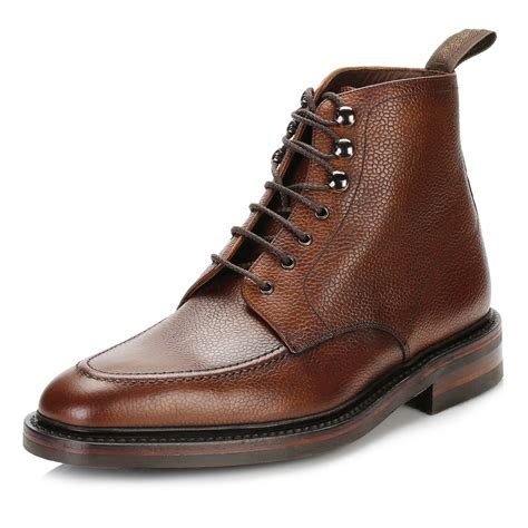 loake mens oxblood boots smart casual leather ankle