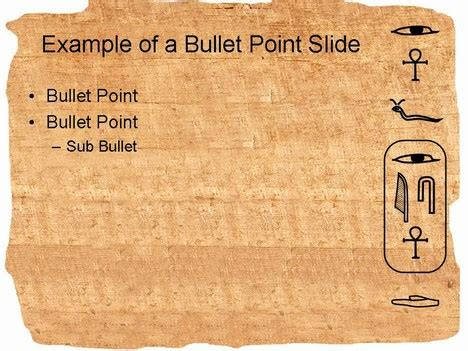 ancient powerpoint template hieroglyph powerpoint template