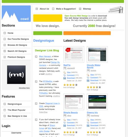 15 Best Sites To Download Free Web Templates Open Source Website Templates