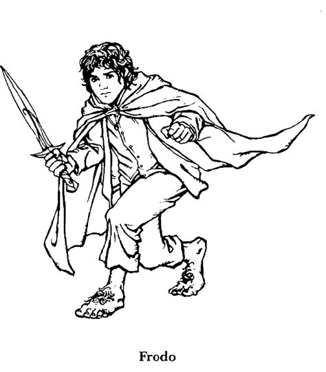 lord of the rings coloring page frodo nothing better