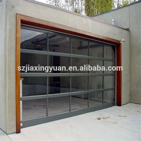 transparent garage doors residential aluminum view transparent plexiglass