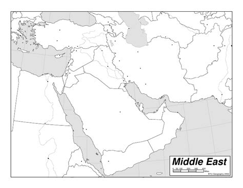 middle east map blank printable middle east outline
