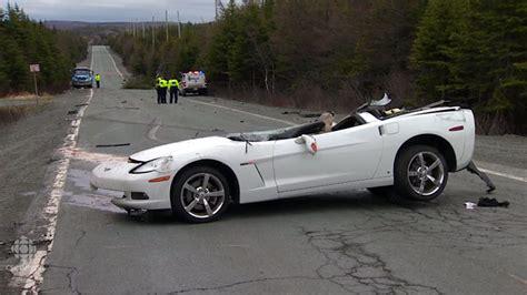 corvette crashes horrible c6 corvette crash in canada results in