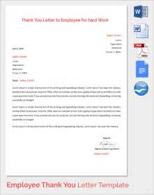 Thank You Letter For Working Sle Thank You Letter To Employer 18 Free