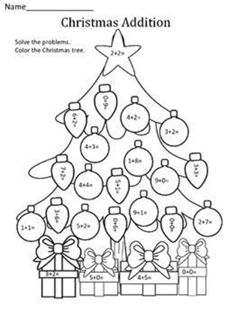 christmas tree math coloring page 1000 ideas about christmas math on pinterest christmas