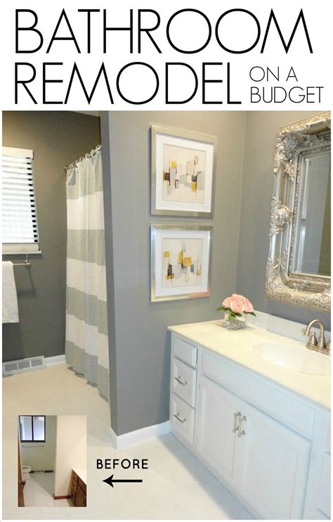 design my home on a budget livelovediy diy bathroom remodel on a budget