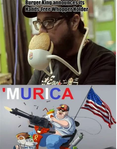 Murica Memes - hands free burger holder murica know your meme