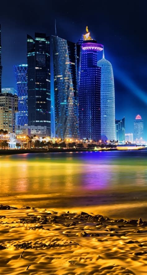 wallpaper hd qatar doha qatar skyline wallpaper wallmaya com