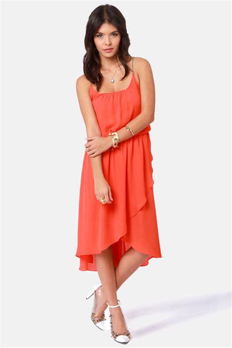 Orange Chain Dress M L 18289 1 gorgeous orange dress high low dress chain dress 44 00