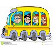 Image Libre De Droits Autobus Scolaire Dessin Anim&233 Avec Des