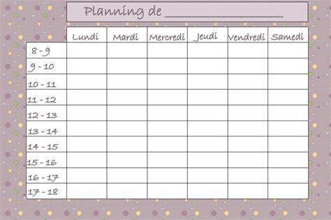 modele planning hebdomadaire gratuit imprimer ccmr
