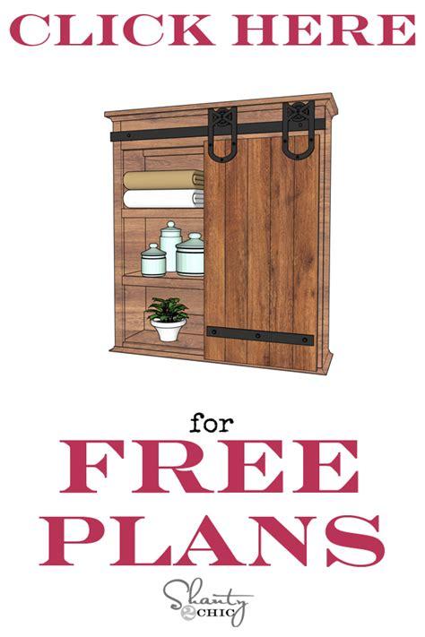 sliding door armoire plans diy sliding barn door bathroom cabinet shanty 2 chic