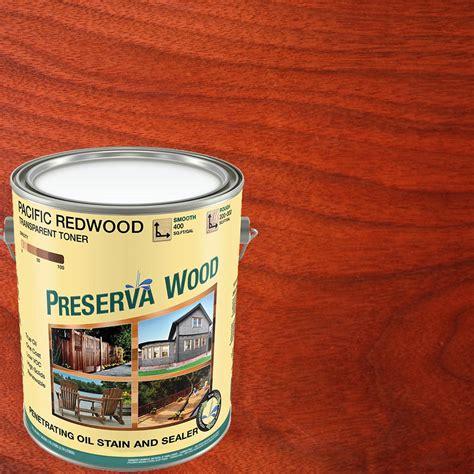 preserva wood  gal  voc oil based pacific redwood