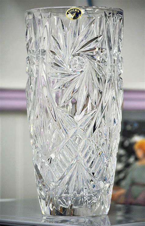 exquisite bohemia republic lead vase by
