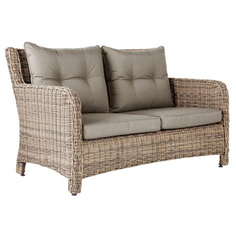 outdoor wicker sofas new hshire 2 seater outdoor sofa rattan oka