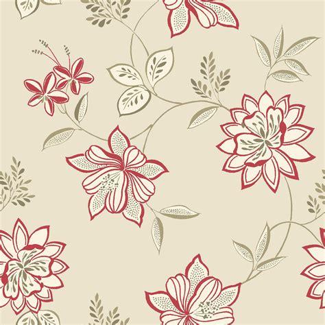 bq lexie red floral wallpaper departments diy  bq