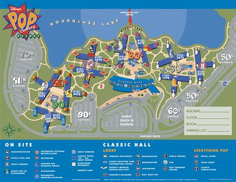 disney resort map disney s pop century resort hotel around the world