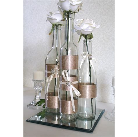 items similar set 3 decorated wine bottle centerpiece