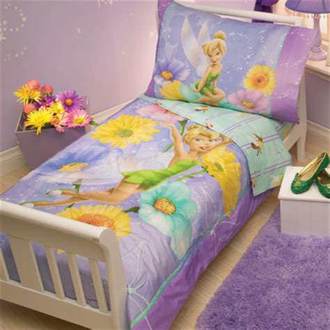 tinkerbell bedding disney tinkerbell garden treasures 4 piece toddler bedding set reviews wayfair