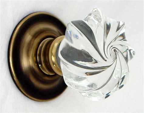 glass doorknob whirl glass door knobs