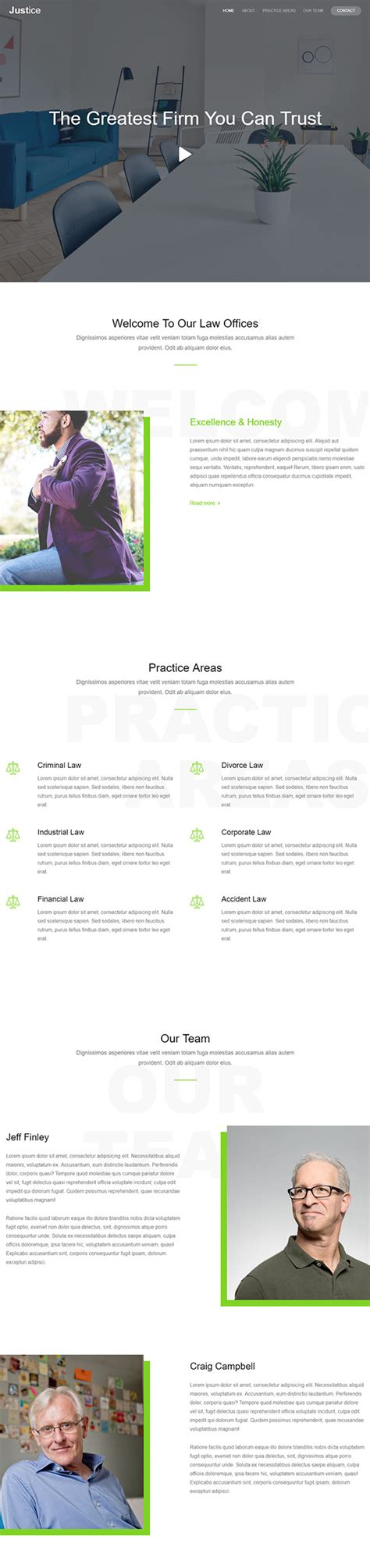 free bootstrap templates for lawyers 51 free bootstrap themes templates
