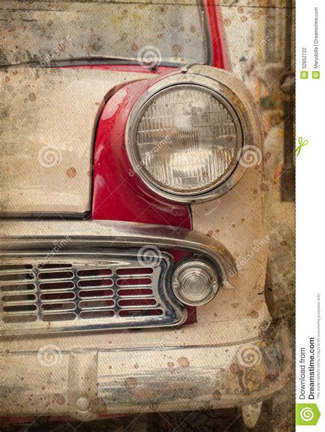 retro car headlight stock photography image 32652722