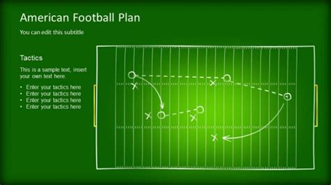 Editable Game Plan Template For Powerpoint Slidemodel Powerpoint Football Playbook