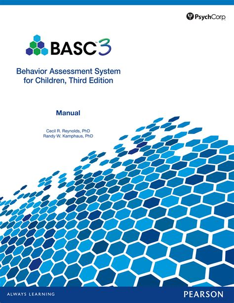 Behavior Assessment System For Children Third Edition Basc 3 Pearson Assessment Basc 3 Report Template