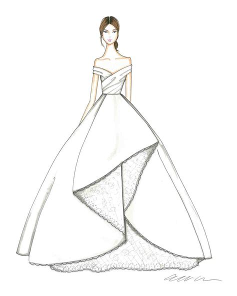 braut zeichnung exclusive get a first look at the fall 2018 bridal