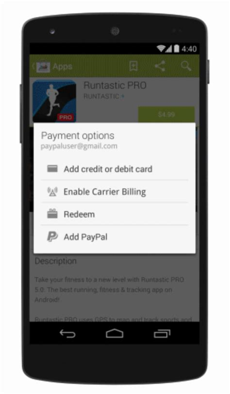 Play Store Payment Play Store Now Accepts Paypal As A Payment Option