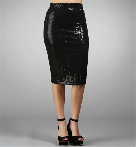 3 way thursday the sequin pencil skirt