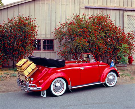 volkswagen beetle red convertible subcompact car stock photos kimballstock