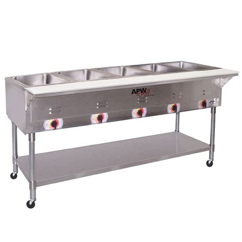 apw wyott psst 5s 5 sealed well electric food steam table