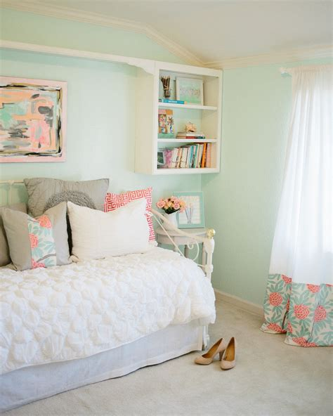 Mint Room by Mint Peachy Pink Bedroom Tour Reveal Michaela