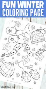 free printable winter coloring kids trail colors